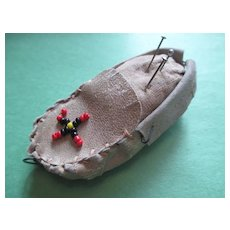 Pin Cushion / Tape Measure Native American Moccasin