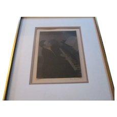 Doris Ulmann Signed Photograph / Platinum Print of John Jacob Niles - circa 1930