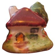 Doll House Miniature Staffordshire Ceramic Cottage
