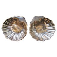 Pair of Gorham Sterling Silver Shell Shaped Bowls / Trays