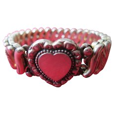 Adjustable Heart Bracelet by D.F. Briggs Co. (1901) in Original Box
