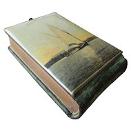 Celluloid Photo Album with Sailboat - circa 1900