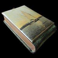Celluloid Photo Album with Sailboat - circa 1900