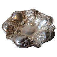 Gorham Sterling Silver Bowl or Tray - 1903 - Apples with Apple Blossoms Motif