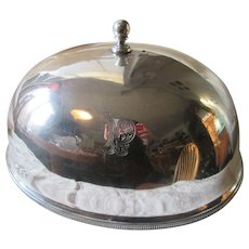 Large Antique Sheffield Silver Plate Food Dome by Mappin Webb & Co
