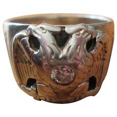 Masonic 14K Gold & Diamond Scottish Rite Ring - 32nd Degree - Size 7