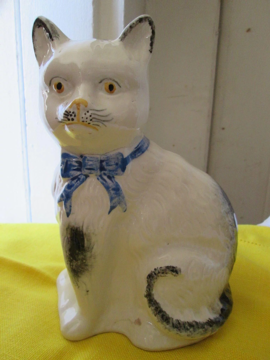 Staffordshire Pottery Cat Purrfection
