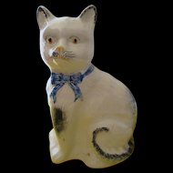 Antique Staffordshire Pottery Cat - Purrfection.