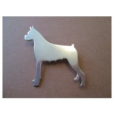 Sterling Silver Boxer Pin - Beautiful Quality and Signed M.Boutell