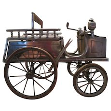 Automobile Inkwell  Tiller-Steering Motor Car - Rare Piece!!