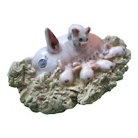 """Basel Mathews Art Pottery - Sow And Piglets - 3"""" of Charming Ceramic"""