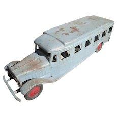 Super Large Cor-Cor Toy Bus - Pressed Steel - Circa 1930