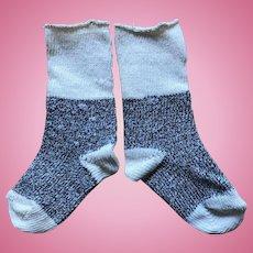 Sweet Vintage Doll Socks - 2 Tone and Too Cute!!