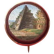 Unusual Micro-mosaic of a Pyramid - 19th Century