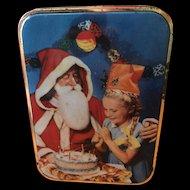Edward Sharp & Sons Christmas Tin with Santa - Circa 1950's