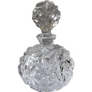 Tiffany & Co Dresser Perfume Bottle - Rock Cut Glass