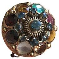 14K Gold Harem / Princess  Ring Set with Gemstones - Size 8