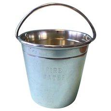 "Fun Lunt Sterling ""Fire Bucket"" Jigger - Labeled ""Fire Water""!"
