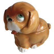 Comical Ceramic Dog Shaped Box - Circa 1930's