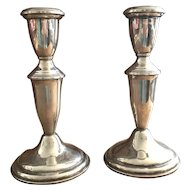 """Pair of Empire Sterling Silver Candlesticks - Mid Century - 6 1/4"""" High"""