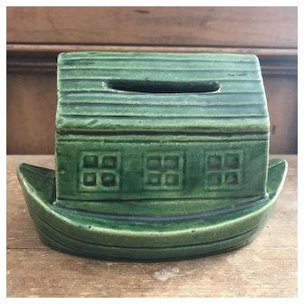 Antique Noah's Ark Ceramic Bank