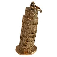 18K Leaning Tower Of Pisa Charm - Beautifully Detailed !