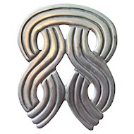 Great Large Mexican Sterling Silver Pin
