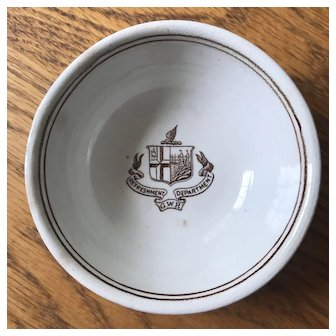 "Very Rare Great Western Railway / Railroad Bowl from the ""Refreshment Department"" - Dunn Bennett & Co  Burslem Pottery"