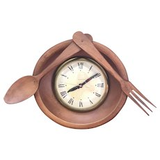 Lanshire Mid Century Kitchen Wall Clock - Self Starting - Electric - Made in U.S.A. - FUN !
