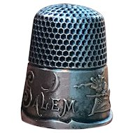 "Very Rare ""Salem Witch"" Thimble by Ketcham & McDougall- 1881 Patent- Size 8"