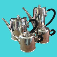 William Spratling of Taxco, Mexico - 4 Piece Jaguar Coffee and Tea Service - Circa 1965