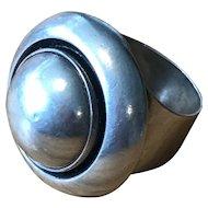 """Niels Erik From - """"N. E. From"""" of Denmark Sterling Silver Ring - Modernist Design"""