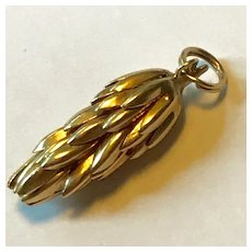 14K Gold Bunch of Bananas Charm or Pendant