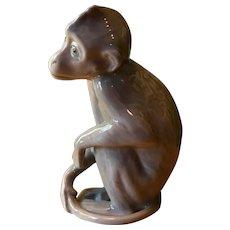 Danish Bing & Grondahl Porcelain Monkey with Charm