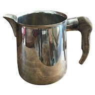 Fabulous Silver Plate Gucci Pitcher with Stag Horn Handle