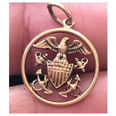 US Navy 14K Gold Charm / Pendant