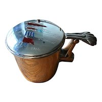 Sterling Silver Nautical Lidded Cup with Enameled Yachting Flags - 1914