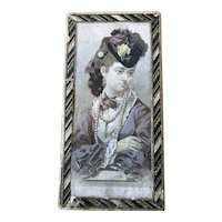 Large Candy Box with Lovely Girl - Mid 19th Century
