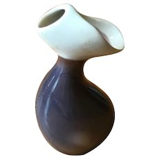 Miniature Modernist Porcelain Vase - Verbano Laveno - Italy Mid Century