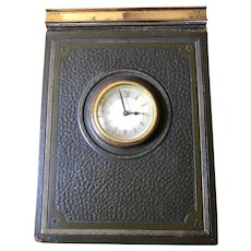 """Park Sherman """"Time Secretary"""" Desk Diary with Working Clock - What To Do Every Hour !  From 1938"""