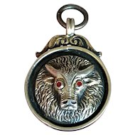 Scottish Masonic Lodge Attendance Metal Watch Fob - Dated 1920 - Gilded Sterling Silver