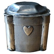 Dutch Antique Peppermint Box - 800 Silver with Heart