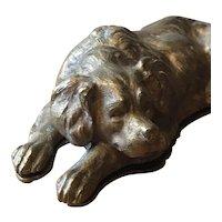 Bronze Dog Double Stamp Box