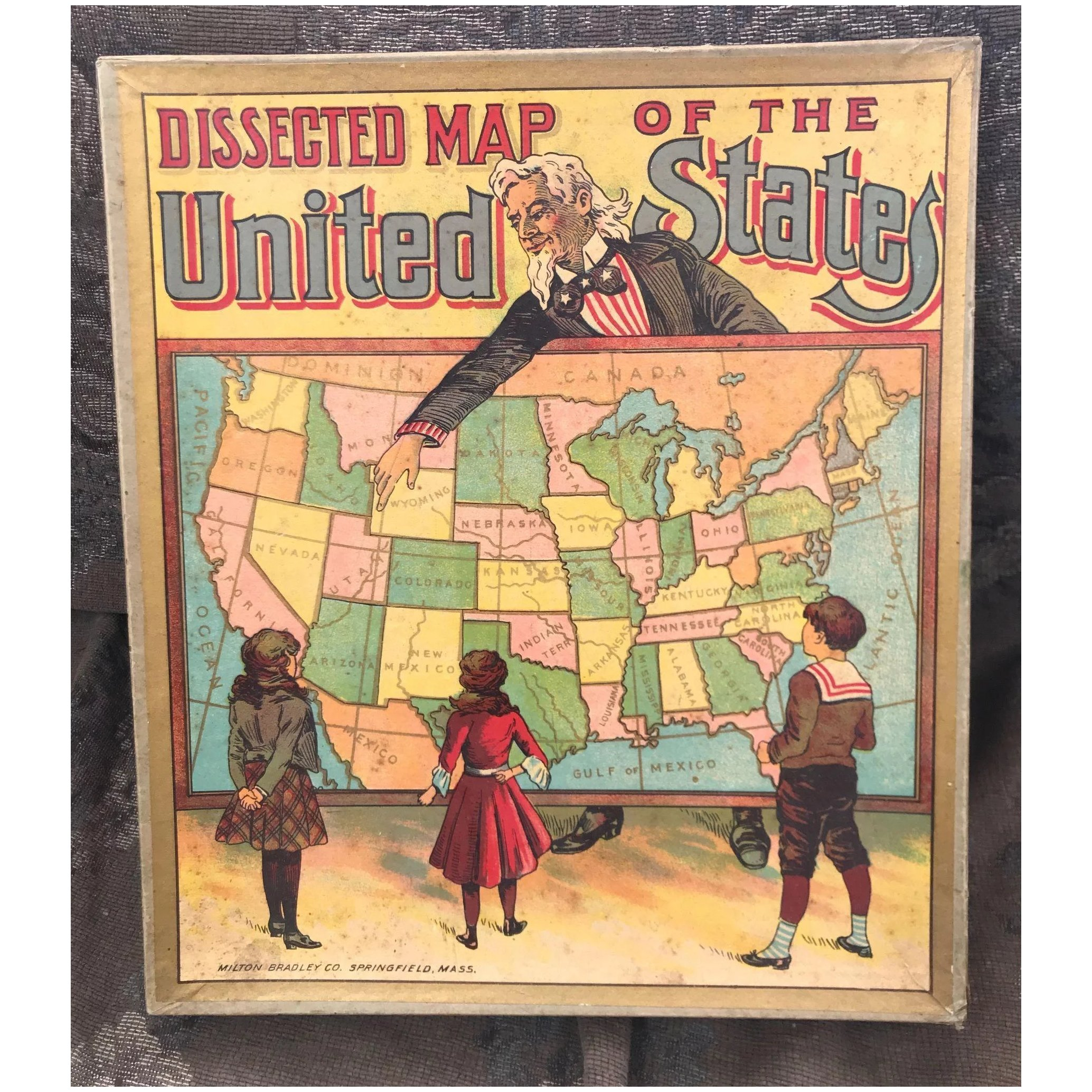 Milton dley Boxed Antique Map Puzzle of the United States Circa 1900 on world map puzzle, united states jigsaw puzzle, map of mexico puzzle, map of germany puzzle, map of hawaii puzzle, map of africa puzzle, u s map puzzle, map of ireland puzzle, united states wooden puzzle, map of israel puzzle, map of new york city puzzle, map of jamaica puzzle, map of iowa puzzle, new york united states puzzle, states and capitals puzzle, space puzzle, united states of america puzzle, south america puzzle, europe map puzzle, 50 states map puzzle,