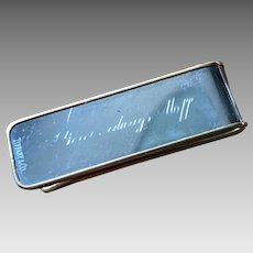 """Tiffany & Co - Money Clip with 18K Gold Rim - Says """"Yours Always..."""""""