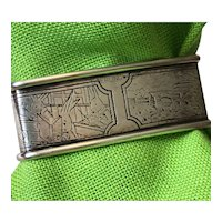 Sterling Silver Napkin Ring with Bunnies - Webster Company