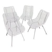 Set of 4 Russell Woodard Sculptura Wire Mesh Chairs