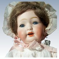 """SALE 10"""" Antique Bisque Head Baby Doll. Morimura Brothers, Japan. Display Ready. Adorable"""