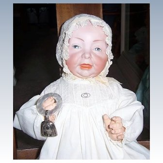 SALE 20inch KAISER Baby 100. Kammer & Reinhardt Character Doll. Head by Simon & Halbig in Beautiful Gown