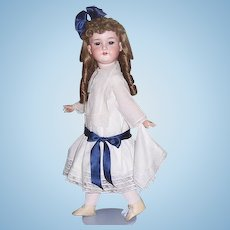 """28"""" Antique Doll German Bisque Head by Armand Marseille DRGM 246/1 390 Display Ready"""
